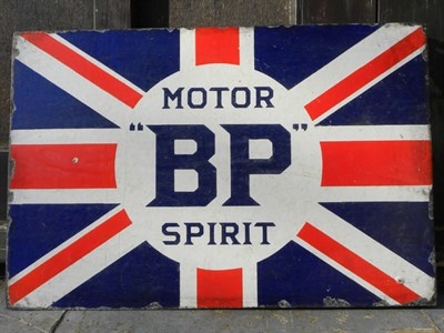 Lot 60 - BP 'Motor Spirit' Enamel Sign