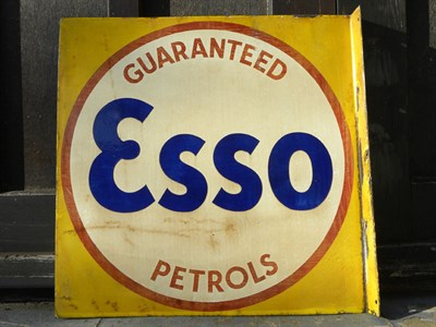 Lot 61 - 'Guaranteed Esso Petrols' Enamel Sign