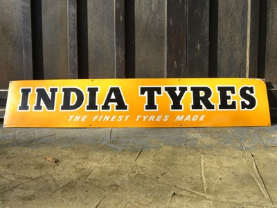 Lot 63 - India Tyres Enamel Sign