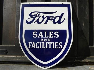 Lot 64-'Ford Sales & Facilities' Enamel Sign