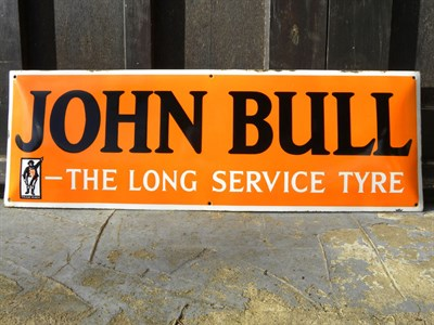 Lot 65 - John Bull Tyres Enamel Sign