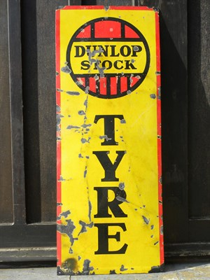 Lot 66 - 'Dunlop Stock' Enamel Sign