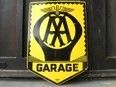Lot 67 - AA 'Garage' Enamel Sign