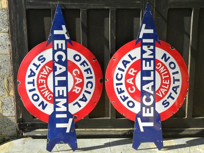 Lot 70 - A Rare Pair of Tecalemit Signs