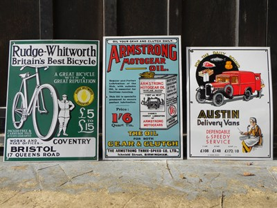 Lot 71 - Three Reproduction Enamel Signs