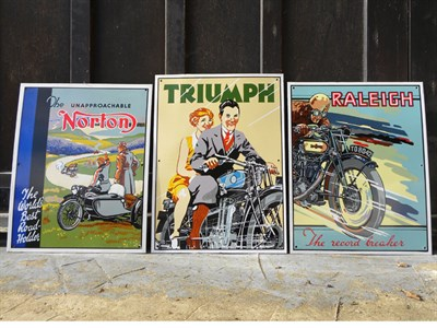 Lot 72 - Three Reproduction Enamel Signs