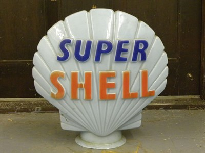 Lot 80 - 'Super Shell' Petrol Pump Globe