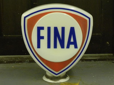 Lot 81 - Fina Petrol Pump Globe
