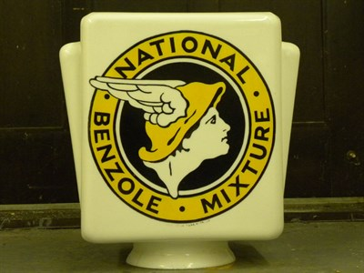 Lot 91 - National Benzole Petrol Pump Globe