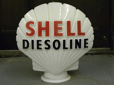 Lot 93 - 'Shell Diesoline' Petrol Pump Globe