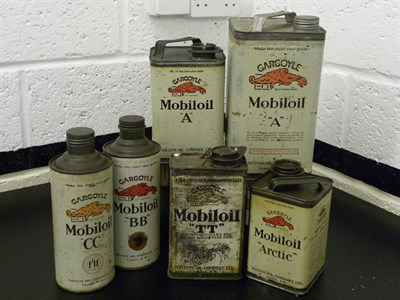 Lot 96 - Quantity of Mobiloil Tins