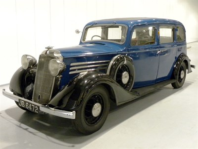 Lot 50-1934 Vauxhall Big Six BXL Limousine