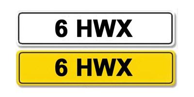 Lot 3 - Registration Number 6 HWX