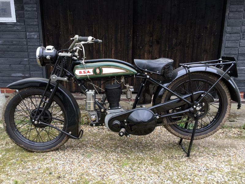 Lot 27-1927 BSA De Luxe