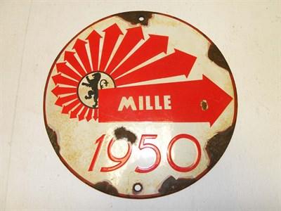 Lot 15 - A Mille Miglia Enamel Route Marker