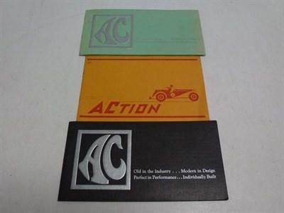 Lot 4 - Three Pre-War AC Sales Brochures