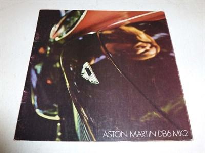 Lot 8 - Aston Martin DB6 Mk II Sales Brochure