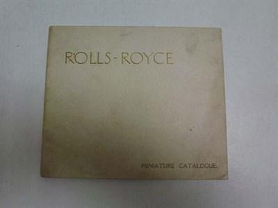 Lot 10 - Pre-War Rolls-Royce Miniature Catalogue