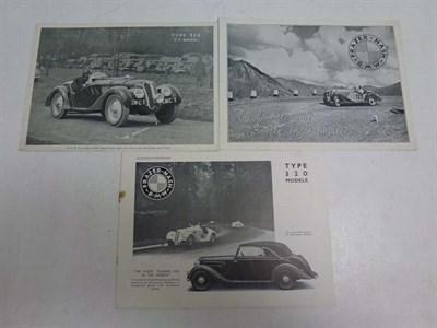 Lot 12 - Three Frazer-Nash BMW Sales Brochures