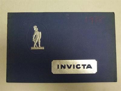 Lot 14 - Pre-War Invicta Sales Catalogue