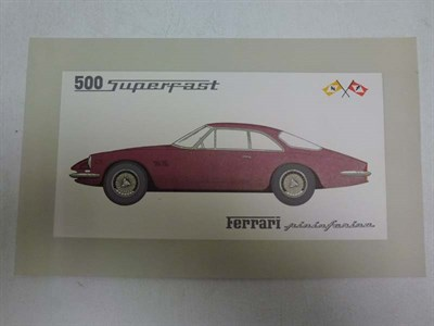 Lot 16 - Ferrari 500 Superfast Pininfarina Sales Card