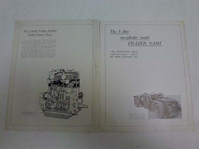 Lot 21 - Two Frazer-Nash Sales Leaflets