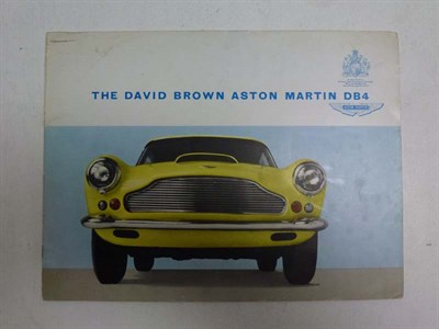 Lot 23 - Aston Martin DB4 Saloon Sales Brochure