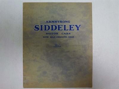 Lot 26 - Pre-War Armstrong Siddeley Sales Brochure