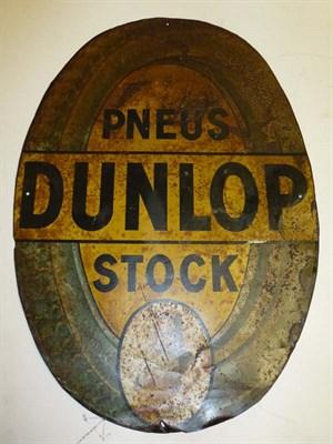 Lot 44 - 'Pneus Dunlop Stock' Tin Advertising Sign
