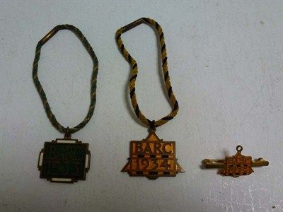 Lot 48 - Three Brooklands Badges