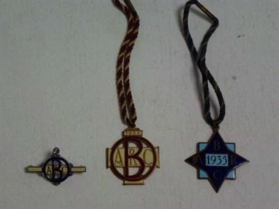 Lot 49 - Three Brooklands Badges