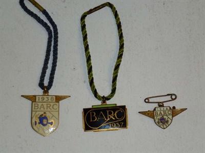 Lot 50 - Three Brooklands Badges