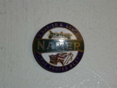 Lot 55 - A Napier Lapel Badge