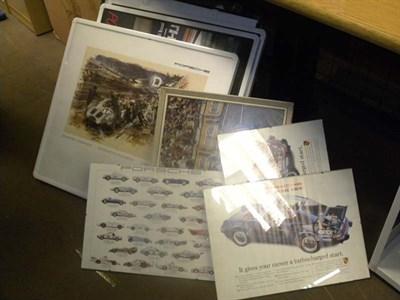 Lot 60 - Quantity of Porsche Artwork