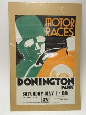 Lot 31 - Pre-War Donington Advertising Poster