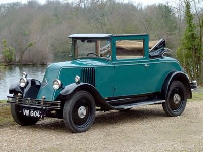 Lot 8 - 1928 Renault Monasix 12.5hp 'Pleasure Car'