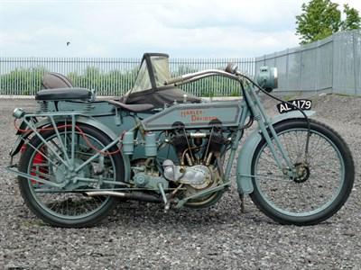 Lot 60 - 1915 Harley Davidson F Combination