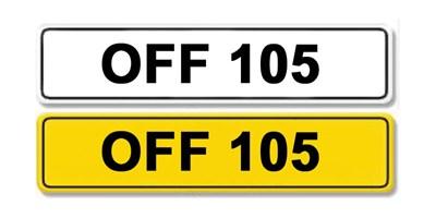 Lot 4 - Registration Number OFF 105