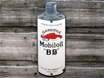 Lot 5 - A Rare 'Mobiloil BB-Grade' Enamel Sign