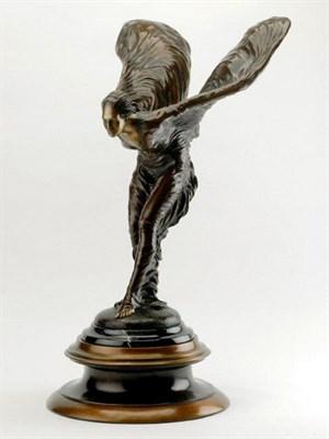 Lot 13 - Bronze Spirit of Ecstasy Statue