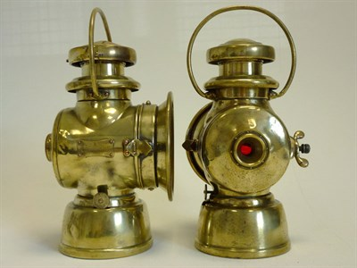 Lot 18 - Lucas Brass Sidelamps