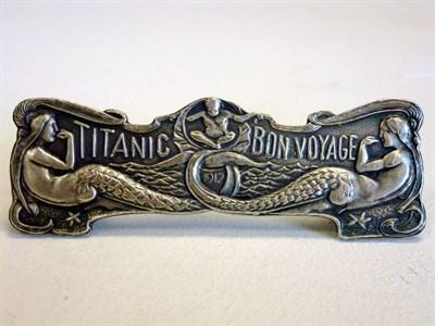 Lot 21 - Titanic Maiden Voyage Dashboard Plaque