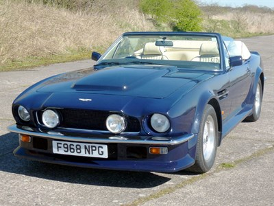 Lot 84 - 1988 Aston Martin V8 Vantage Volante 'X-Pack' 6.3