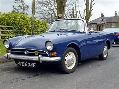 Lot 4-1968 Sunbeam Alpine Series V GT