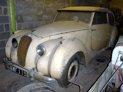 Lot 1 - 1952 Lagonda 2.6 Litre Drophead Coupe