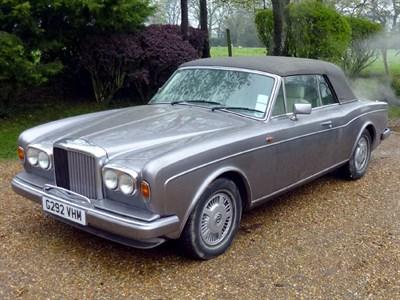 Lot 10 - 1990 Bentley Continental Convertible