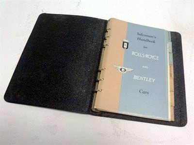 Lot 1 - The Salesman's Handbook for Rolls-Royce & Bentley Cars