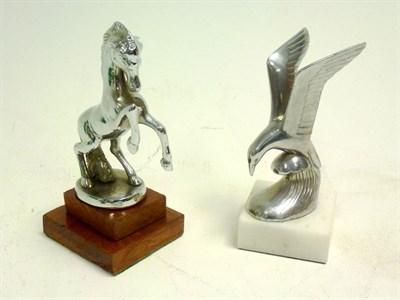 Lot 29 - Large Chromium Plated Prancing Horse Mascot