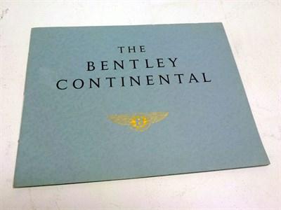 Lot 37 - Bentley Continental Sales Brochure