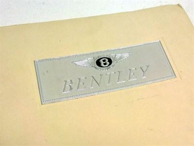 Lot 39 - Bentley MKVI De-Luxe Sales Catalogue